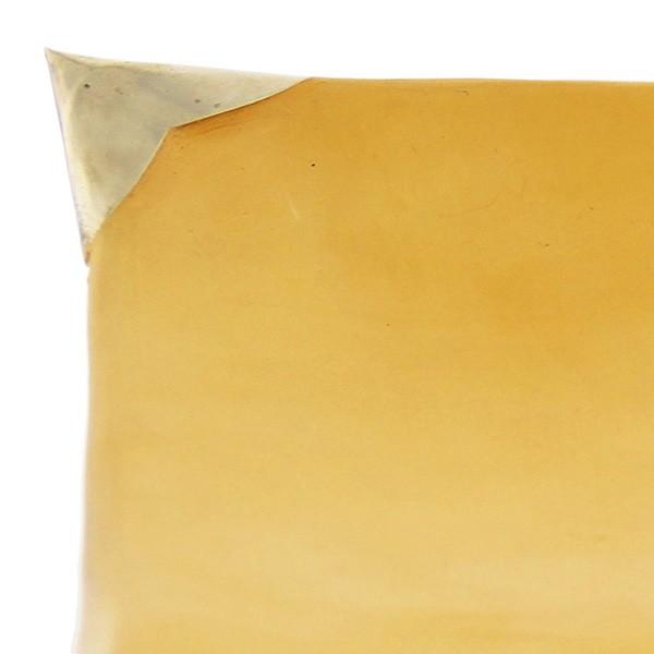 Assiettes Tadelakt carrées medium jaune zoom