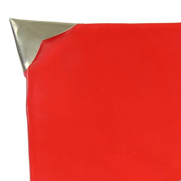 Assiettes Tadelakt carrées medium rouge zoom