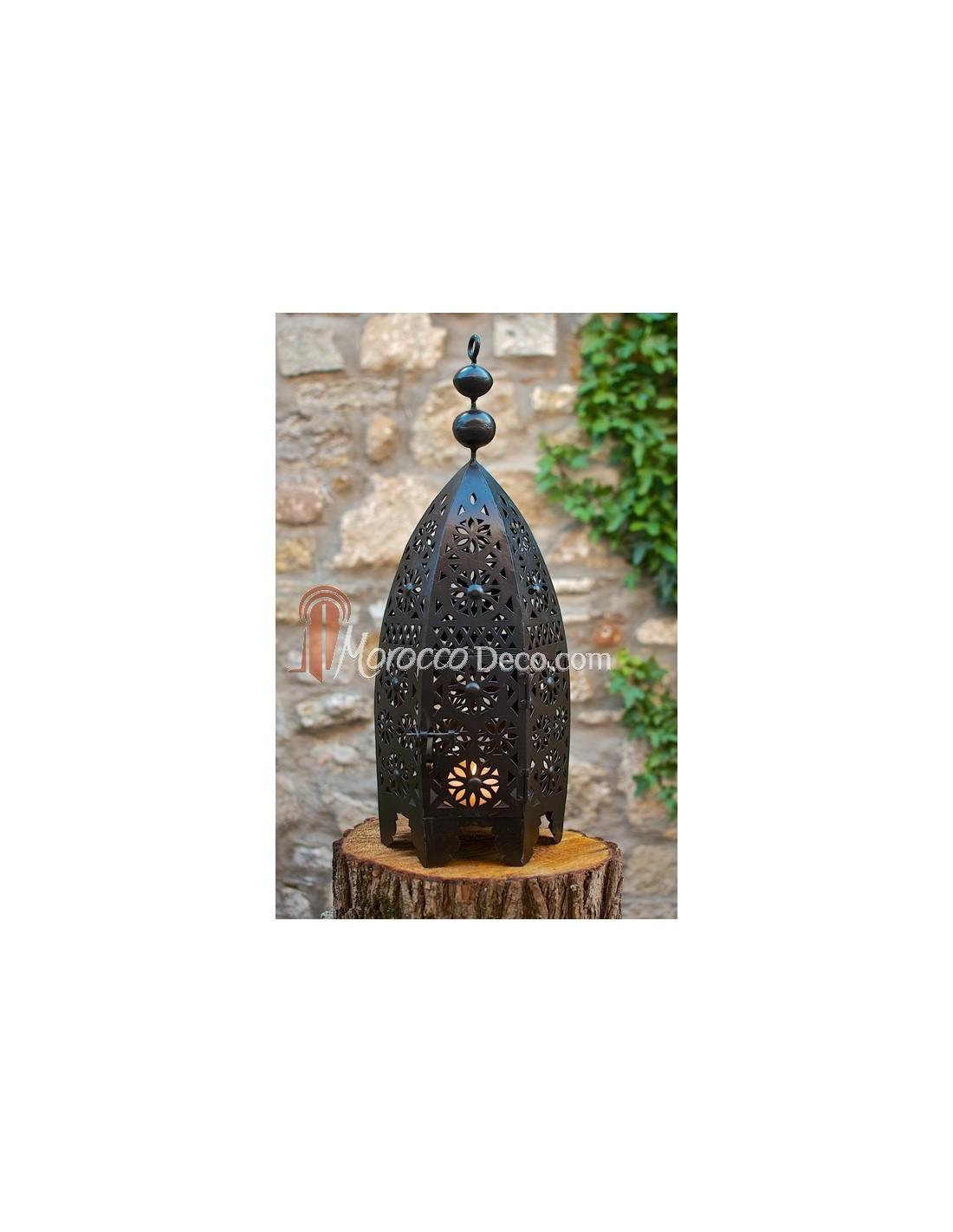 Lanterne traditionnel en fer forg for Porte lanterne fer forge