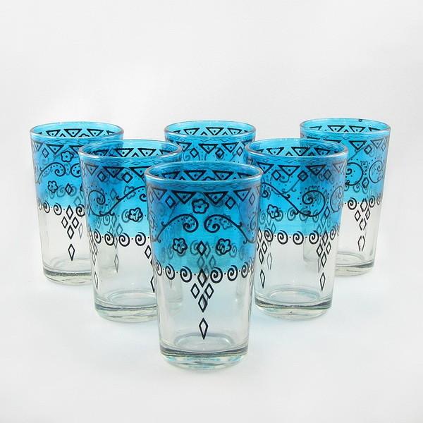 Verres a thé celebration bleu