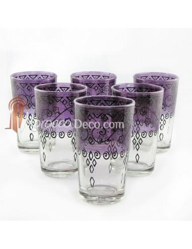 Verres a thé celebration violet