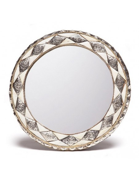 Round Moroccan mirror