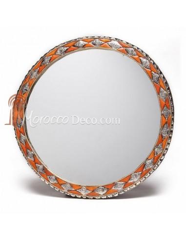 grand miroir rond orne et decore couleur corail miroir fait main Résultat Supérieur 16 Beau Miroir Rond Pic 2017 Zzt4