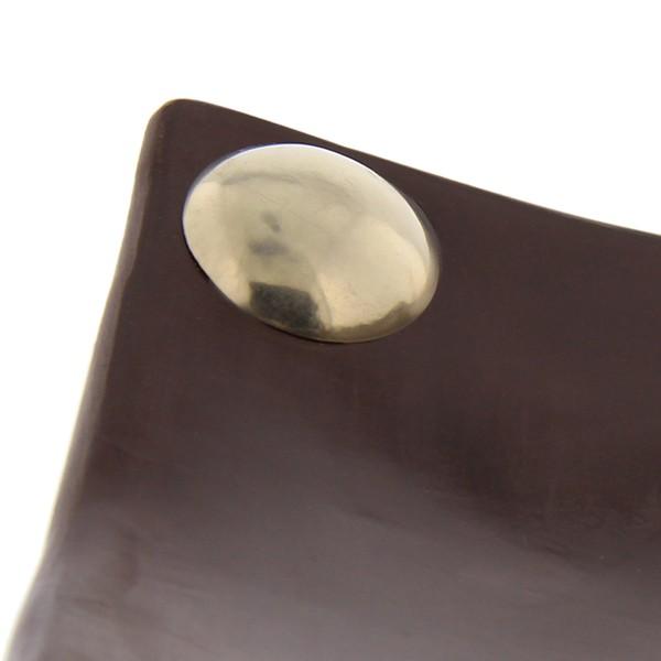 Assiettes a boutons Tadelakt carrées larges marron