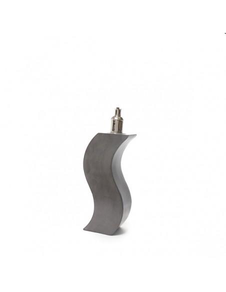 Pied de lampe design en Tadelakt gris