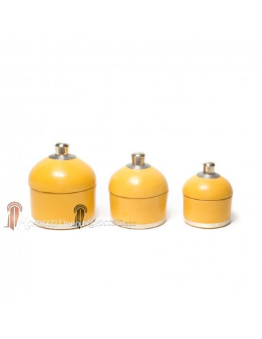 Boite ronde maissa jaune