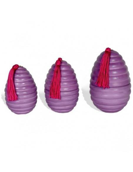 Oeufs rainures tadelakt violet