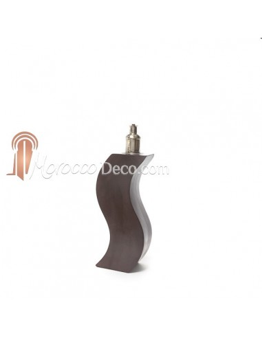 Pied de lampe design en Tadelakt marron