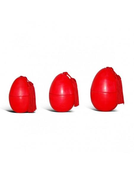 Oeufs lisses tadelakt rouge