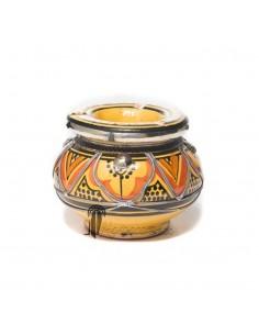 https://moroccodeco.com/cendriers/838-cendrier-marocain-fait-main-jaune-et-orange-cercle-de-metal-poli-et-torsade.html