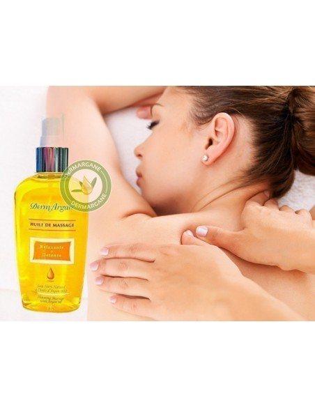 Huile de massage relaxante et délassante à base d'Argan 125ml