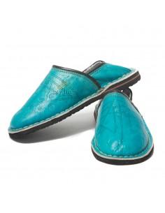 https://moroccodeco.com/babouche-touareg-enfant-mixte-turquoise