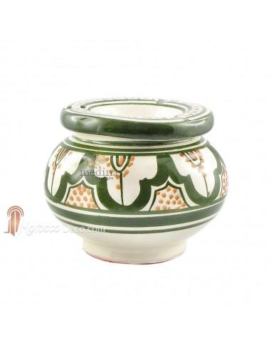 Cendrier marocain fait main vert et orange