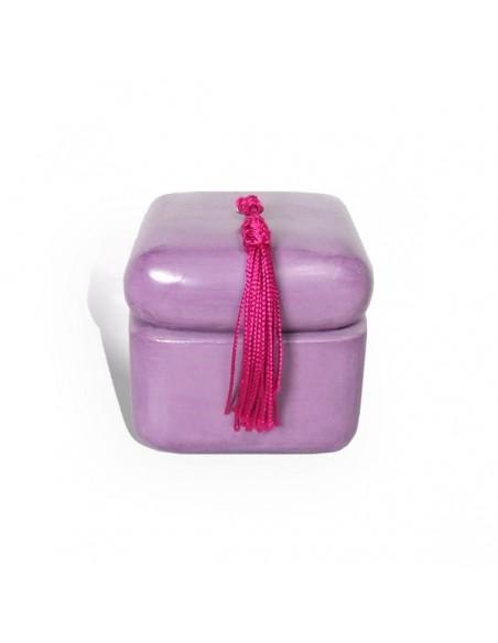 Bougie parfumée tadelakt carré violet