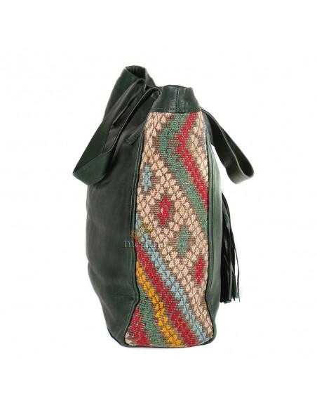 Sac à main style cabas kilim noir