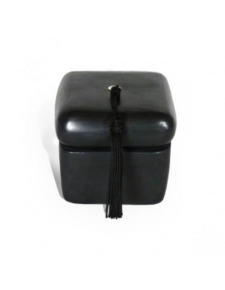 Bougie parfumée tadelakt carré noir