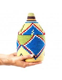 https://moroccodeco.com/boite-vintage-21-cousue-et-tissee-au-fil-de-laine-dans-les-tons-jaune-et-bleu