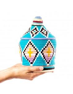 https://moroccodeco.com/boite-vintage-28-cousue-et-tissee-au-fil-de-laine-dans-les-tons-turquoise-et-jaune