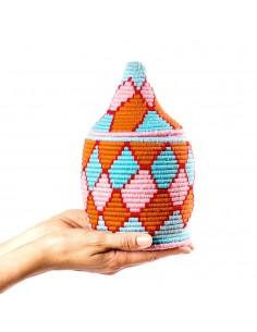 https://moroccodeco.com/boite-vintage-30-cousue-et-tissee-au-fil-de-laine-dans-les-tons-orange-turquoise-et-rose