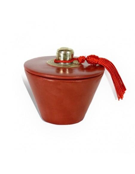 Bougie parfumée tadelakt conique rouge brique