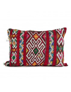 https://moroccodeco.com/coussin-vintage-berbere-100-laine-vierge-tisse-main-rouge-avec-motifs-blanc
