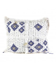 https://moroccodeco.com/coussin-vintage-berbere-100-laine-vierge-tisse-main-blanc-motifs-asymetriques-bleus