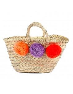https://moroccodeco.com/paniers/746-panier-marocain-design-avec-poignees-en-corde-tressee-et-pompons-orange-violet-et-rouge.html