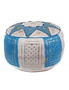 https://moroccodeco.com/poufs/252-pouf-fassi-en-cuir-turquoise-et-blanc.html