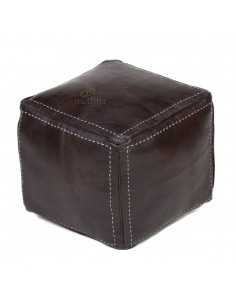 https://moroccodeco.com/pouf-carre-marron-chocolat-en-cuir-surpique-pouf-haute-qualite-entierement-fait-main