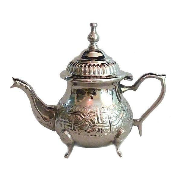 medium engraved moroccan teapot louza. Black Bedroom Furniture Sets. Home Design Ideas