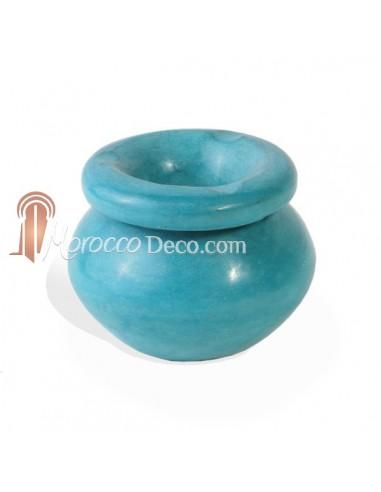 Cendrier de Tadelakt Turquoise