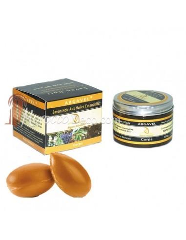 Savon noir aux huiles essentielles et huile d'argan