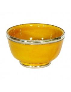 https://moroccodeco.com/bol-artisanal-jaune-cercle-de-metal-inoxydable-et-emaille-a-la-main