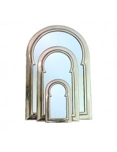 Miroir arcade orienale en métal martelé