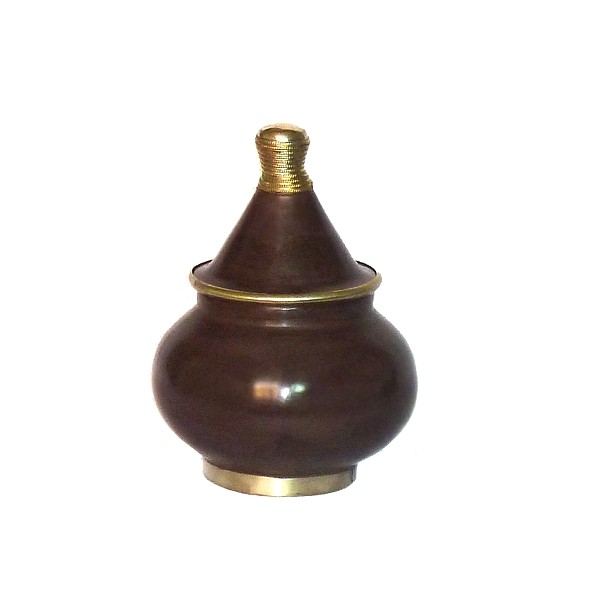 Boite tadelakt design fessi couleur chocolat