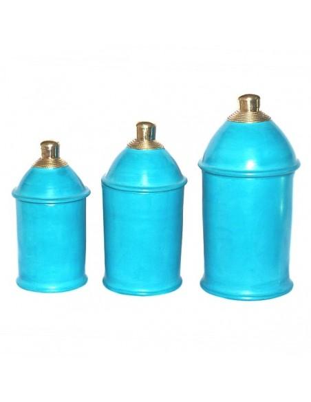 Boite tadelakt kasbah turquoise
