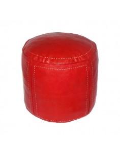 https://moroccodeco.com/poufs/273-pouf-beldi-rond-en-cuir-rouge-surpique.html