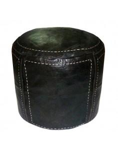 https://moroccodeco.com/poufs/274-pouf-beldi-rond-en-cuir-noir-surpique.html
