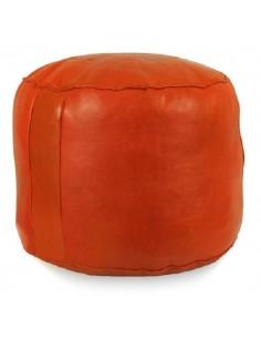 https://moroccodeco.com/poufs/140-pouf-rond-rosace-orange-pouf-en-cuir-veritable-fait-main.html