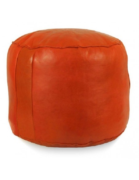 Pouf rond rosace Orange