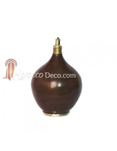 Pied de lampe design en Tadelakt Roumana chocolat