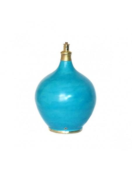 Pied de lampe design en Tadelakt Roumana turquoise