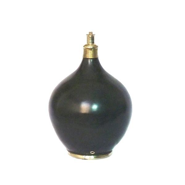 Pied de lampe design en Tadelakt Roumana noir