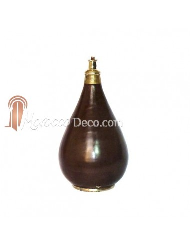 Pied de lampe traditionnel en Tadelakt chocolat