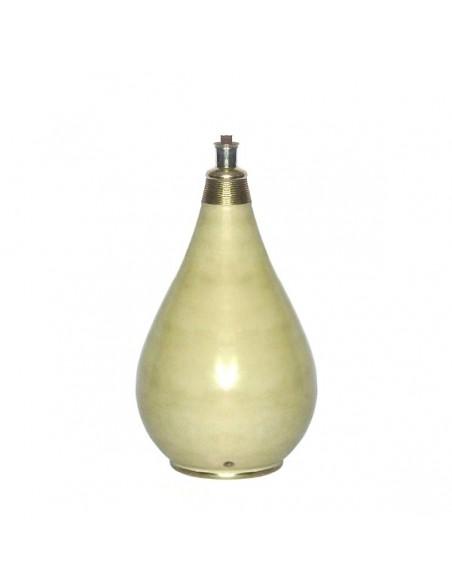 Pied de lampe traditionnel en Tadelakt Ivoire