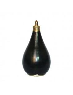 Pied de lampe traditionnel en Tadelakt noir