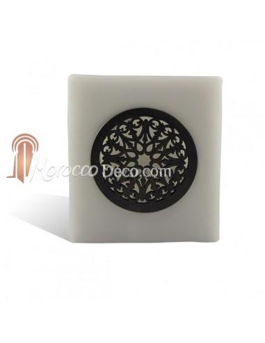 Photophore cube motif rosaceen gris