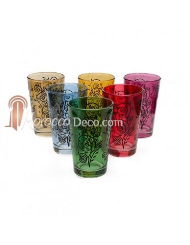 Verres a thé  marocains Nour multicolors