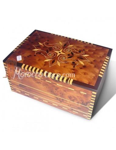 objet de d coration bo te bijoux en bois thuya et citronnier acheter en ligne. Black Bedroom Furniture Sets. Home Design Ideas