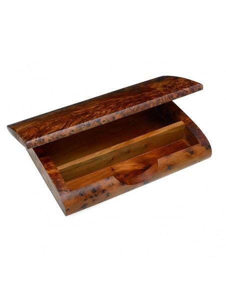 Boite pot à stylos et crayons en bois de thuya2